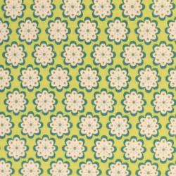 Julia Fleurs rondes sur vert