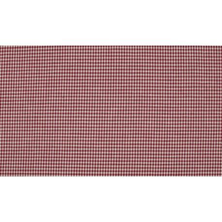 Vichy bordeaux 2mm Cotton