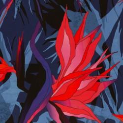 Paradise Bloom by Thorsten Berger bleu royal