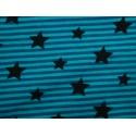Sterne auf blauen Streifen