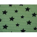 Stars on green stripes