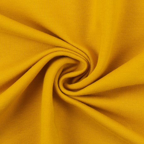 French Terry uni golden yellow