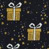 Weihnachten goldene Geschenke auf schwarz