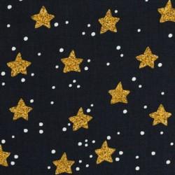 Weihnachten goldene Sterne auf schwarz