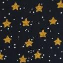 Christmas golden stars on black