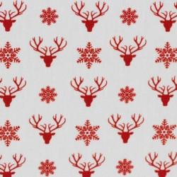 Weihnachten rotee Hirschköpfe auf weiss
