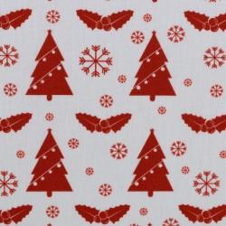 Weihnachten Rote Tannenbäume auf weiss