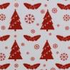 Noël Sapins rouge sur blanc