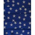 Gummiband blau mit Sternen