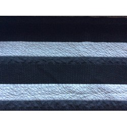 Patchwork Rayures noires-grises-blanches