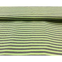 Rayures vert fluo-grises